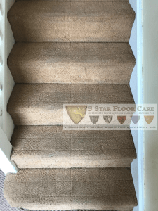 after carpet cleaning on stairs