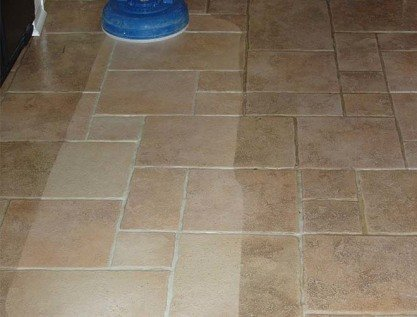 during professional ceramic tile floor cleaning in bromley